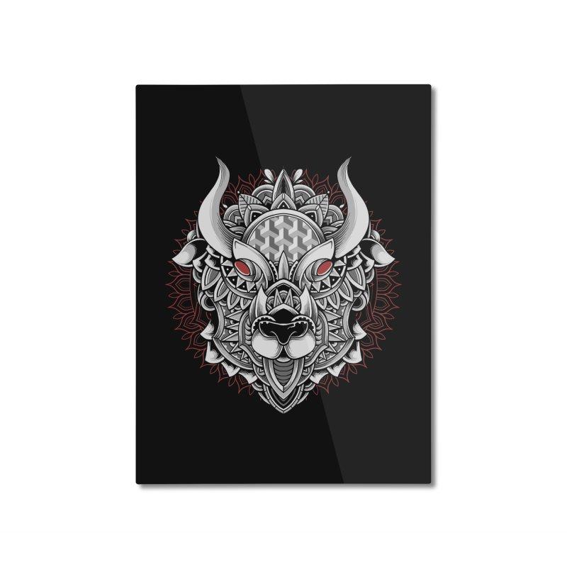 Ox Mandala Home Mounted Aluminum Print by godzillarge's Artist Shop