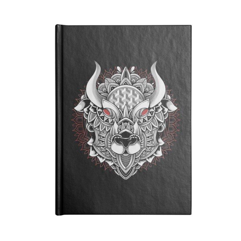 Ox Mandala Accessories Notebook by godzillarge's Artist Shop