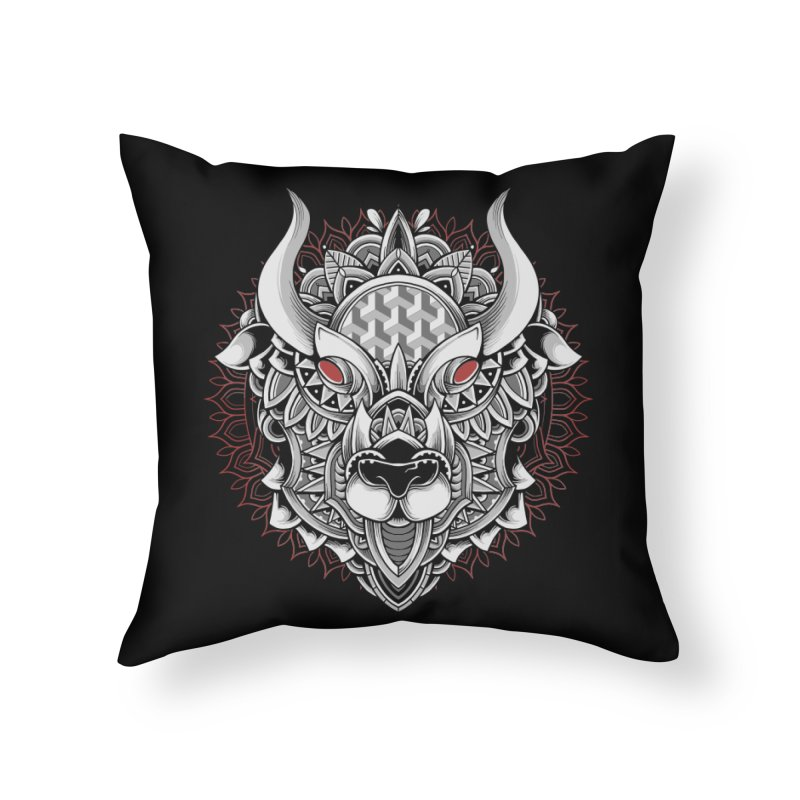 Ox Mandala Home Throw Pillow by godzillarge's Artist Shop