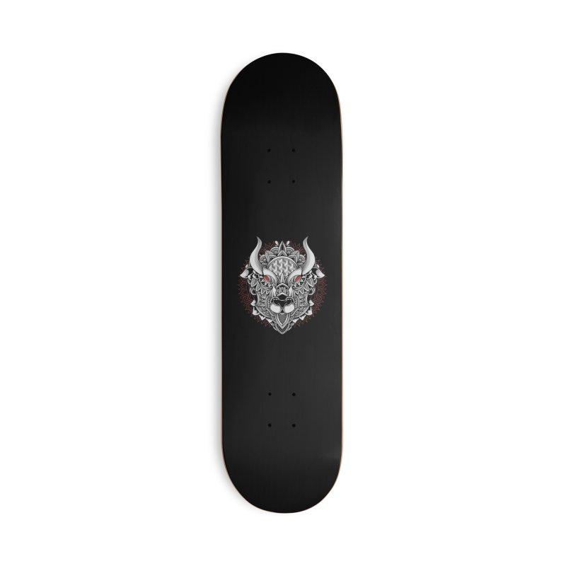 Ox Mandala Accessories Skateboard by godzillarge's Artist Shop