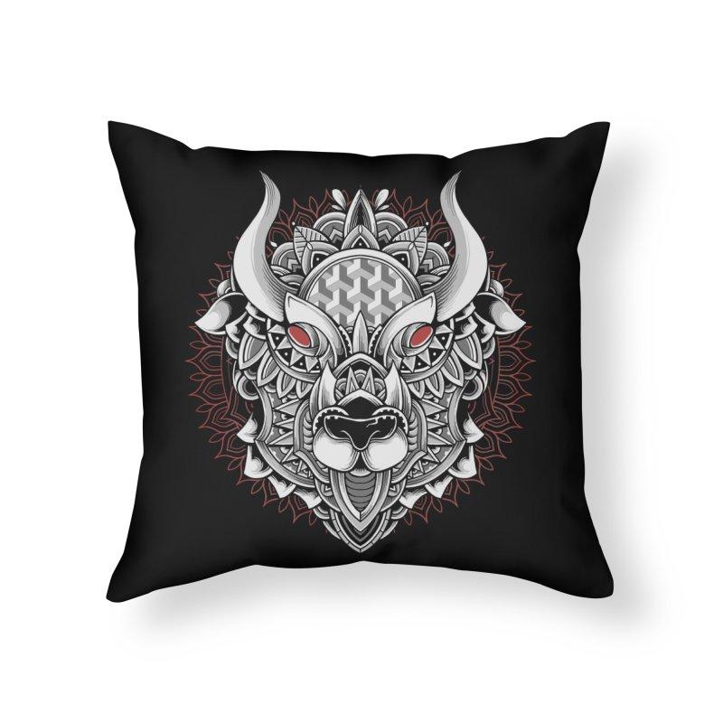 Ox Mandala Home Throw Pillow by godzillarge's Artist Shop