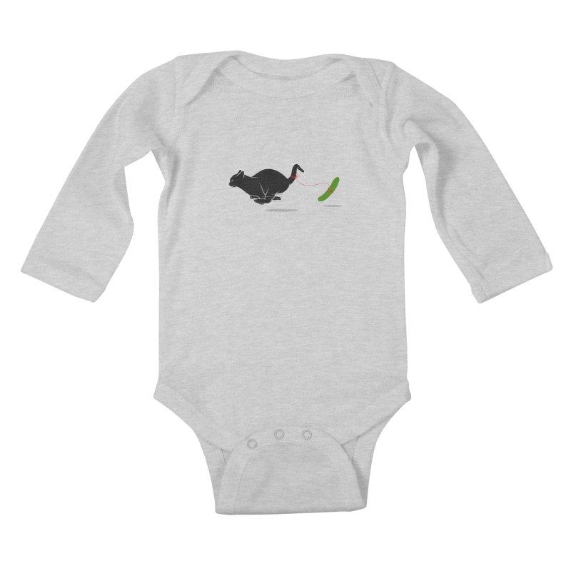 RUN ! Kids Baby Longsleeve Bodysuit by godzillarge's Artist Shop