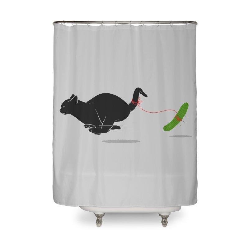RUN ! Home Shower Curtain by godzillarge's Artist Shop