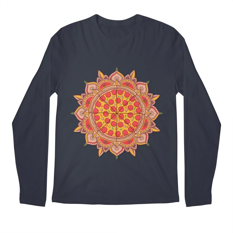 Sacred Pizza Men's Longsleeve T-Shirt by godzillarge's Artist Shop