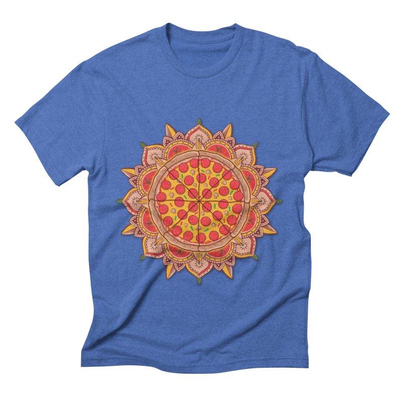 Sacred Pizza Men's Triblend T-shirt by godzillarge's Artist Shop