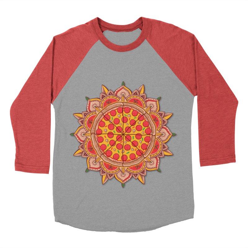 Sacred Pizza Women's Baseball Triblend T-Shirt by godzillarge's Artist Shop