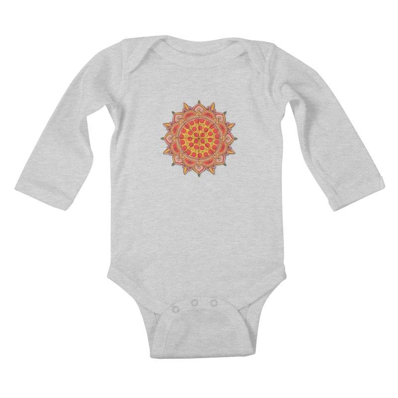 Sacred Pizza Kids Baby Longsleeve Bodysuit by godzillarge's Artist Shop