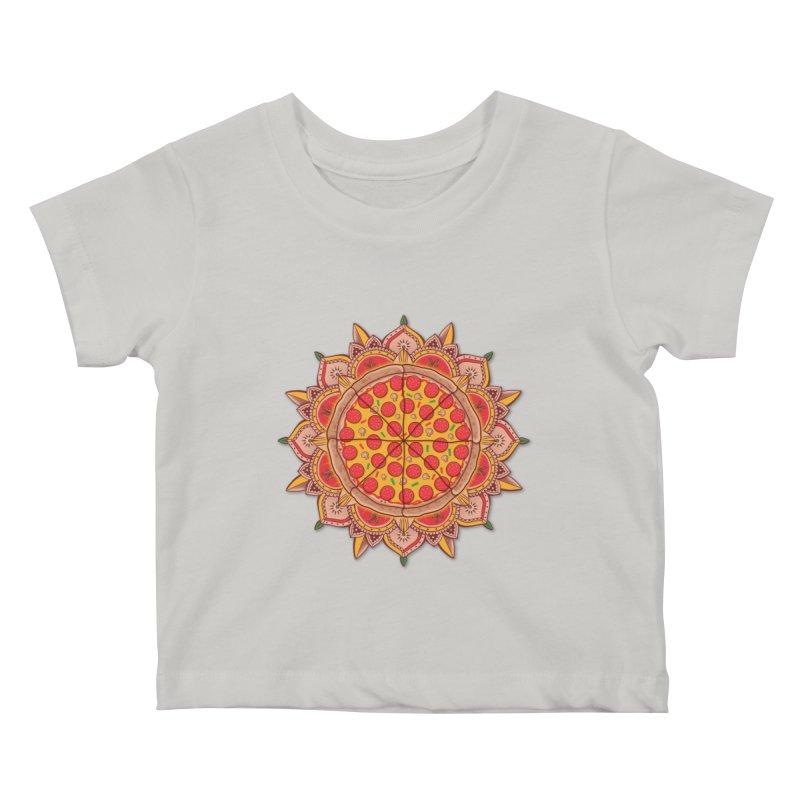 Sacred Pizza Kids Baby T-Shirt by godzillarge's Artist Shop