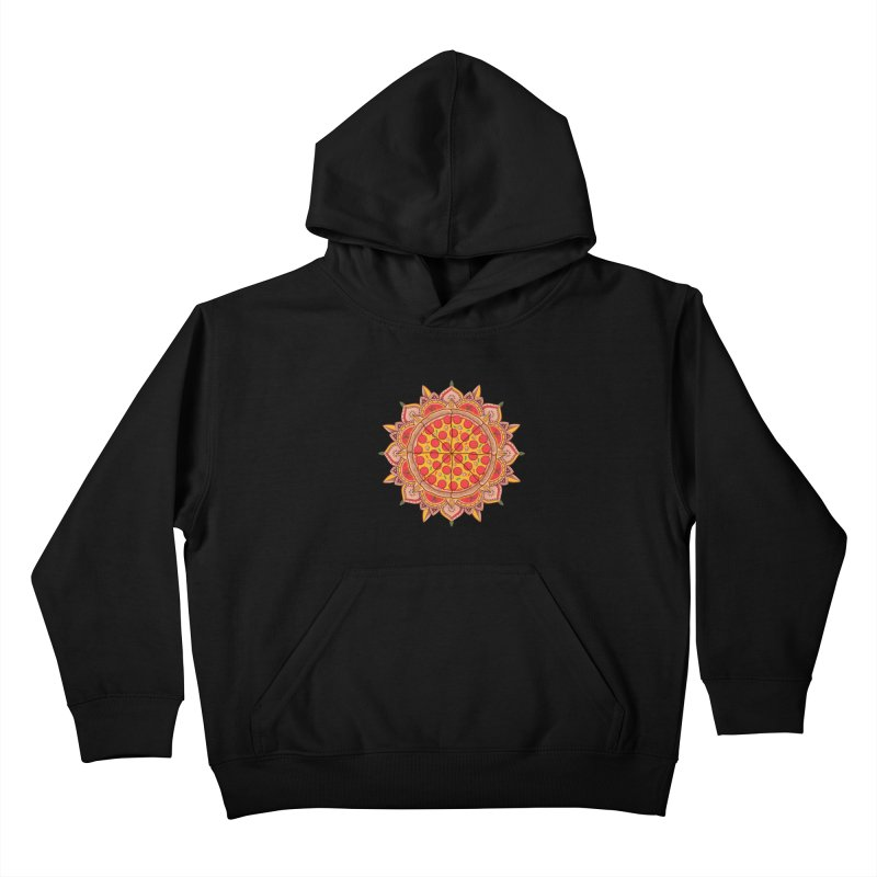 Sacred Pizza Kids Pullover Hoody by godzillarge's Artist Shop