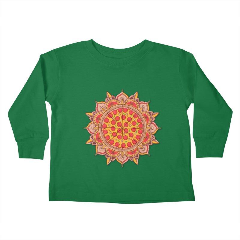 Sacred Pizza Kids Toddler Longsleeve T-Shirt by godzillarge's Artist Shop