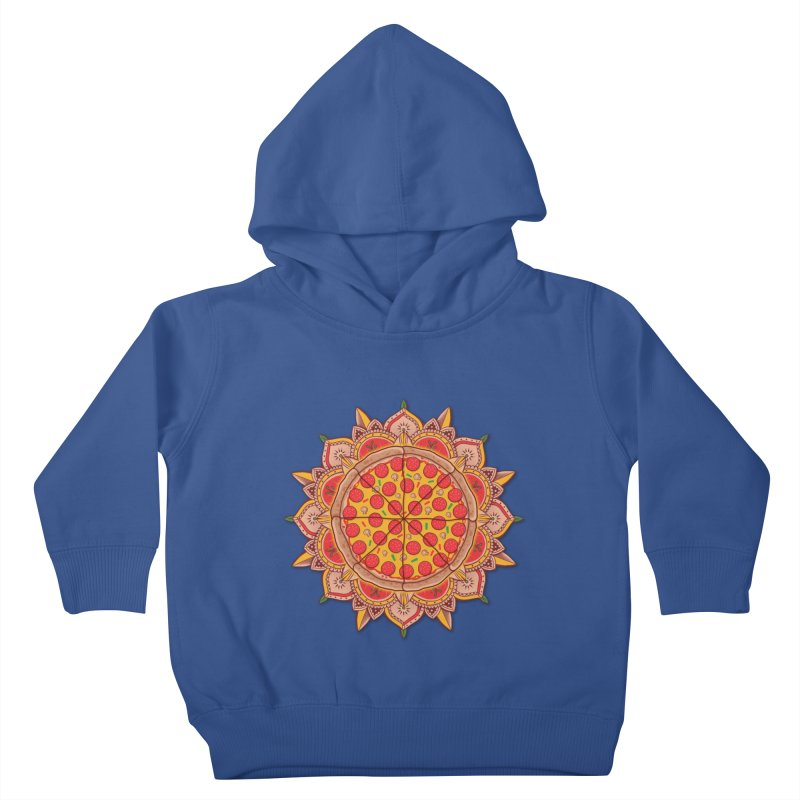 Sacred Pizza Kids Toddler Pullover Hoody by godzillarge's Artist Shop