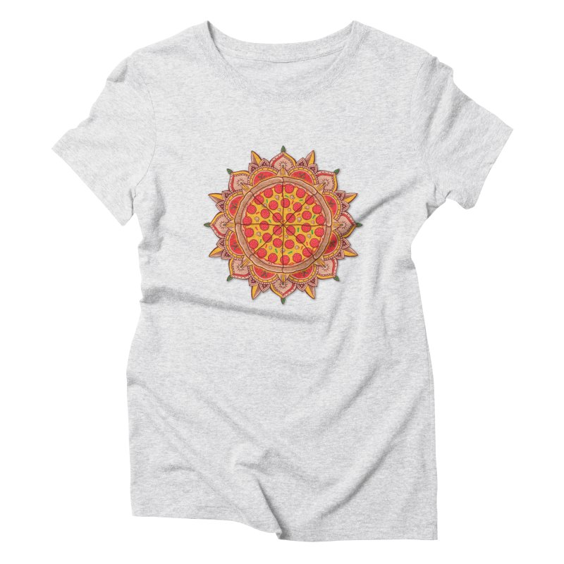 Sacred Pizza Women's Triblend T-shirt by godzillarge's Artist Shop