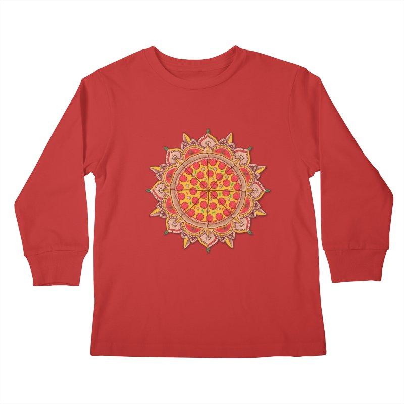 Sacred Pizza Kids Longsleeve T-Shirt by godzillarge's Artist Shop