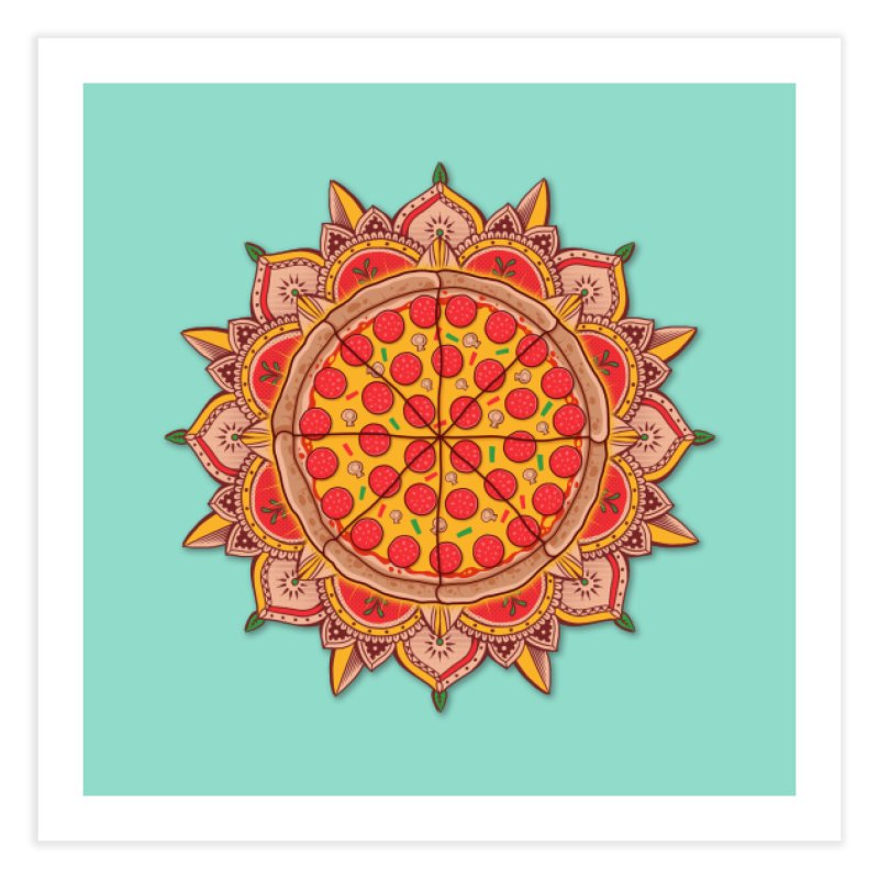 Sacred Pizza Home Fine Art Print by godzillarge's Artist Shop