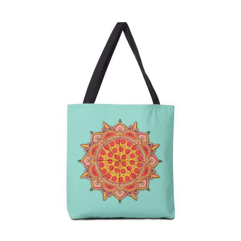 Sacred Pizza Accessories Bag by godzillarge's Artist Shop