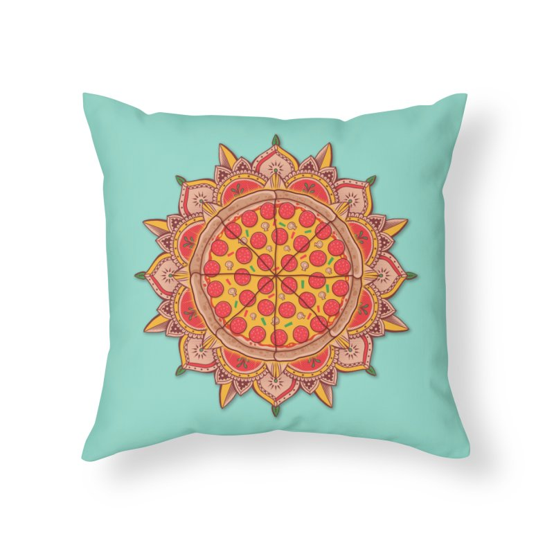 Sacred Pizza Home Throw Pillow by godzillarge's Artist Shop