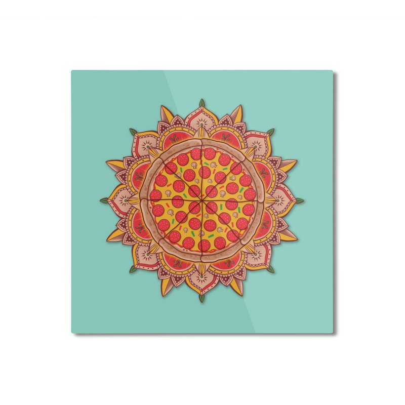 Sacred Pizza Home Mounted Aluminum Print by godzillarge's Artist Shop