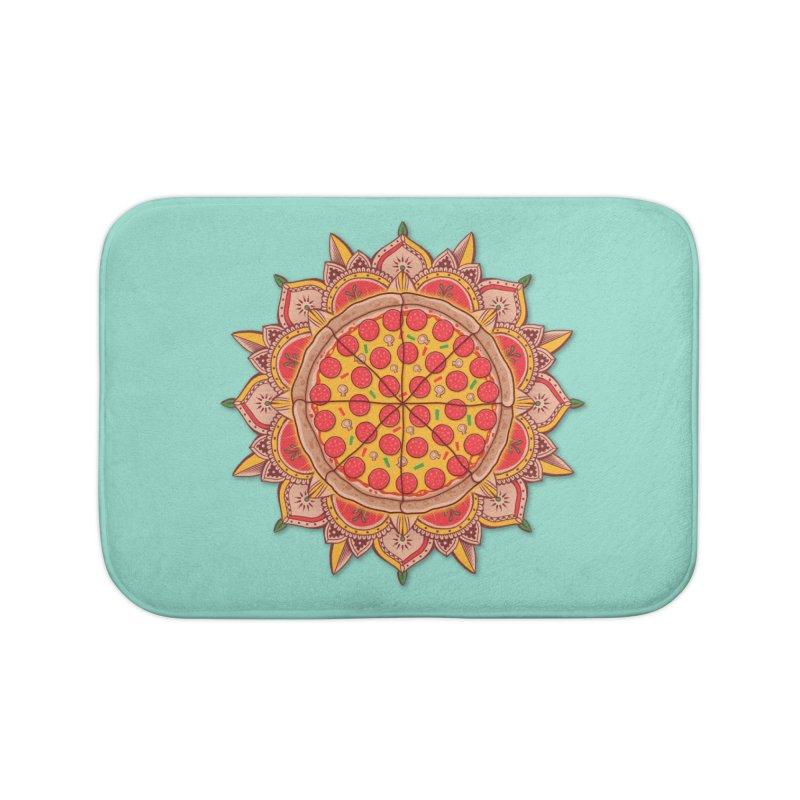 Sacred Pizza Home Bath Mat by godzillarge's Artist Shop