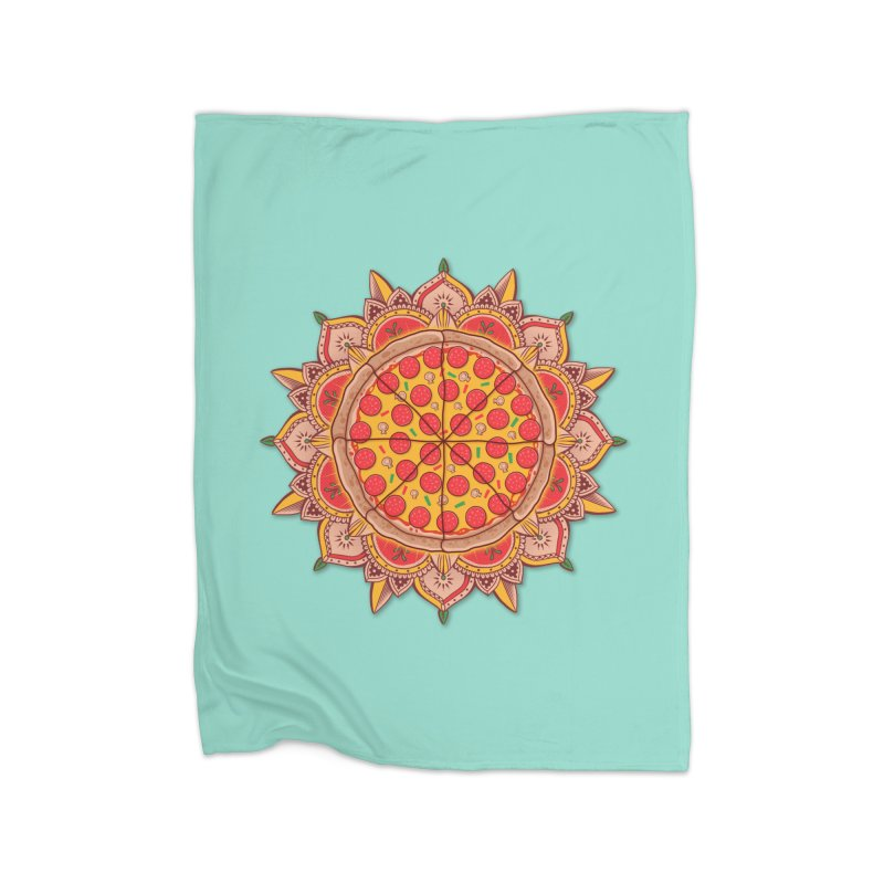 Sacred Pizza Home Blanket by godzillarge's Artist Shop