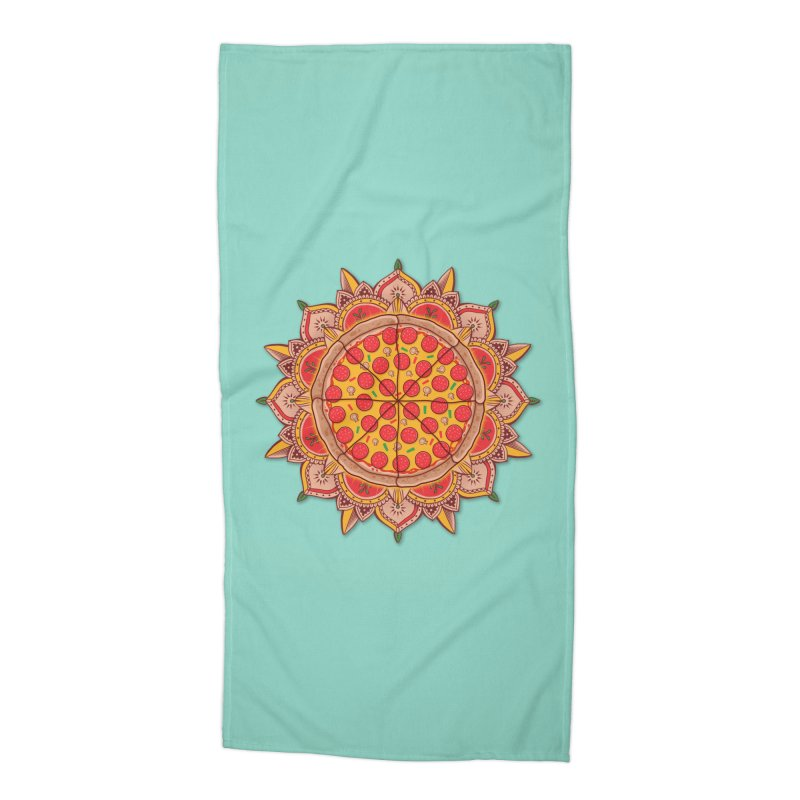Sacred Pizza Accessories Beach Towel by godzillarge's Artist Shop