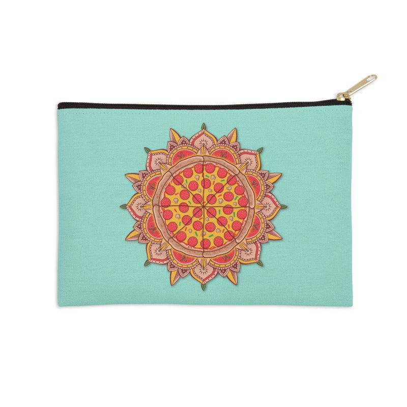 Sacred Pizza Accessories Zip Pouch by godzillarge's Artist Shop
