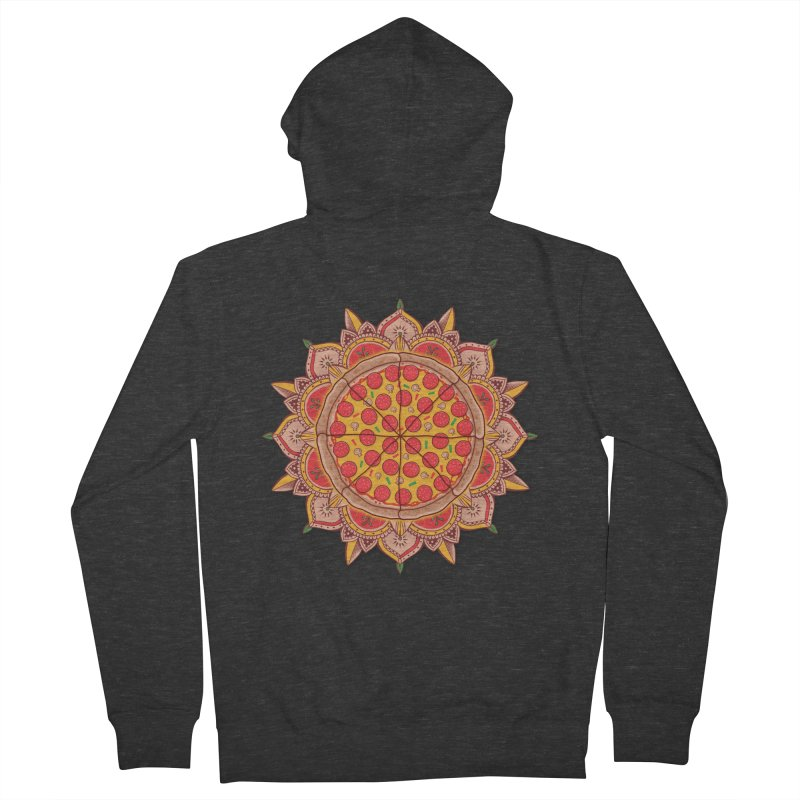Sacred Pizza Men's Zip-Up Hoody by godzillarge's Artist Shop