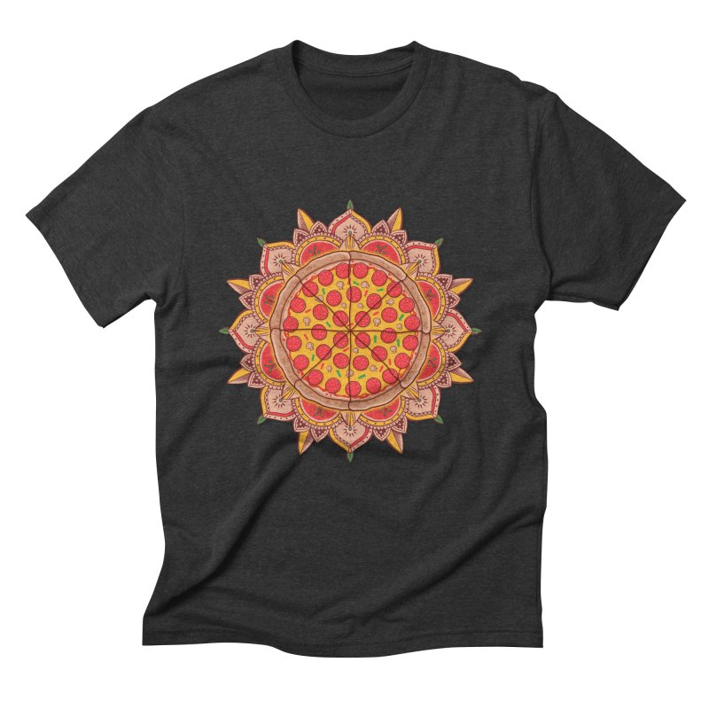 Sacred Pizza Men's Triblend T-Shirt by godzillarge's Artist Shop