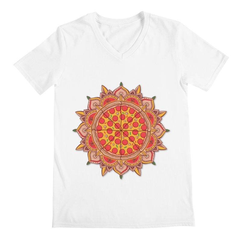 Sacred Pizza Men's V-Neck by godzillarge's Artist Shop