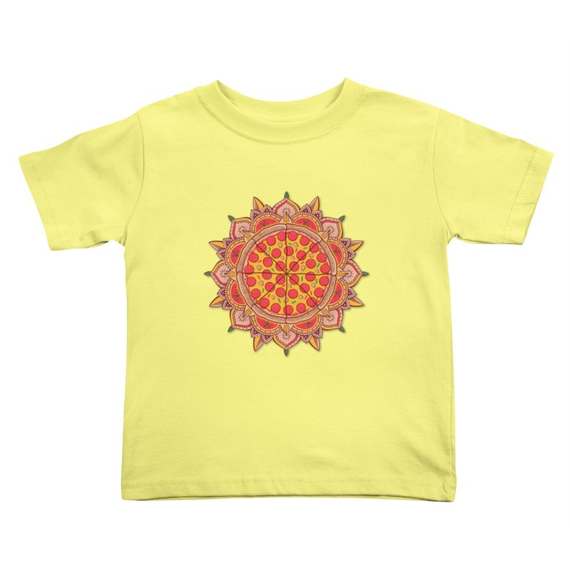 Sacred Pizza Kids Toddler T-Shirt by godzillarge's Artist Shop
