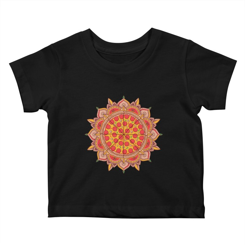 Sacred Pizza Kids Baby T-Shirt by godzillarge's Artist Shop