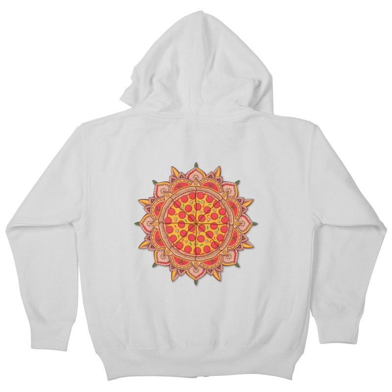 Sacred Pizza Kids Zip-Up Hoody by godzillarge's Artist Shop