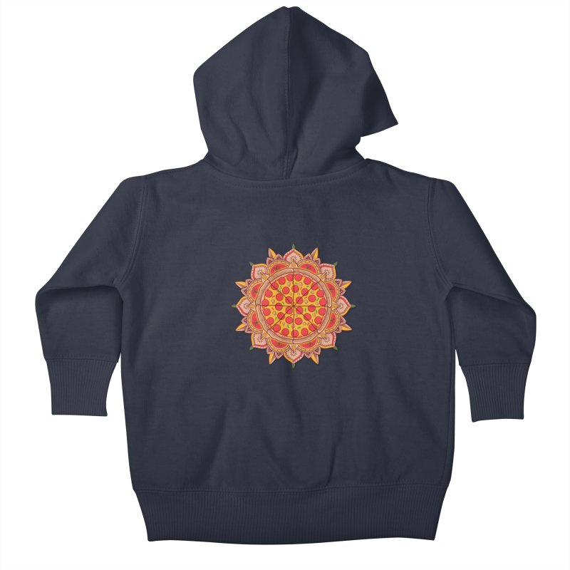 Sacred Pizza Kids Baby Zip-Up Hoody by godzillarge's Artist Shop