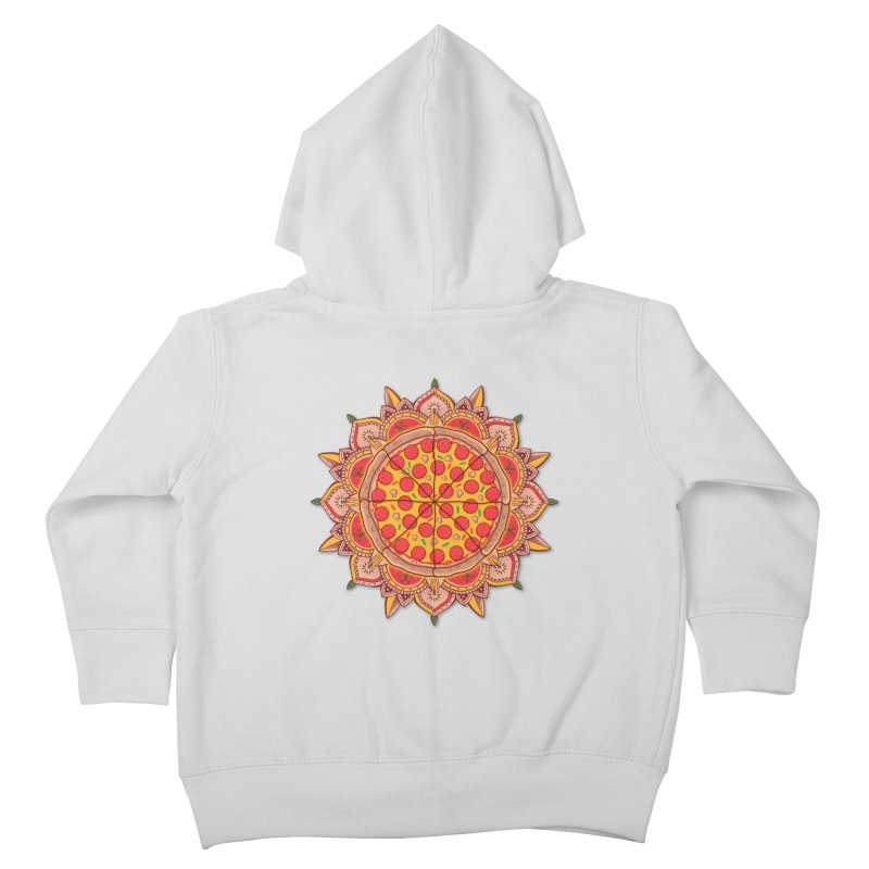 Sacred Pizza Kids Toddler Zip-Up Hoody by godzillarge's Artist Shop