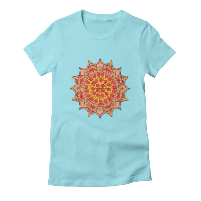 Sacred Pizza Women's Fitted T-Shirt by godzillarge's Artist Shop