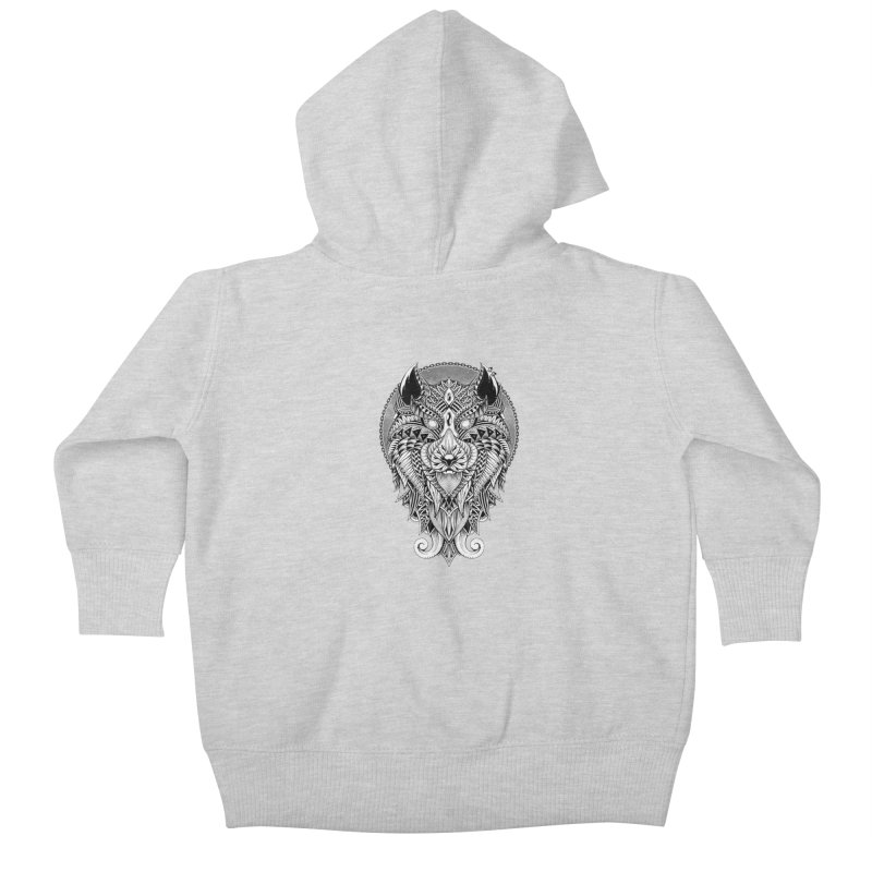 Wild Spirit Kids Baby Zip-Up Hoody by godzillarge's Artist Shop
