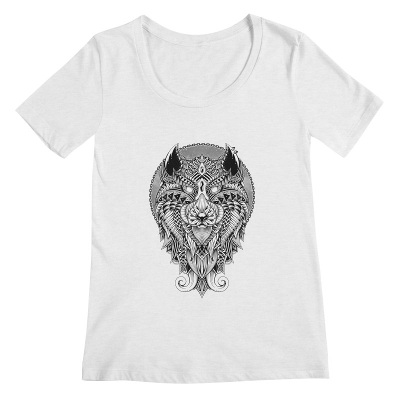 Wild Spirit Women's Scoopneck by godzillarge's Artist Shop