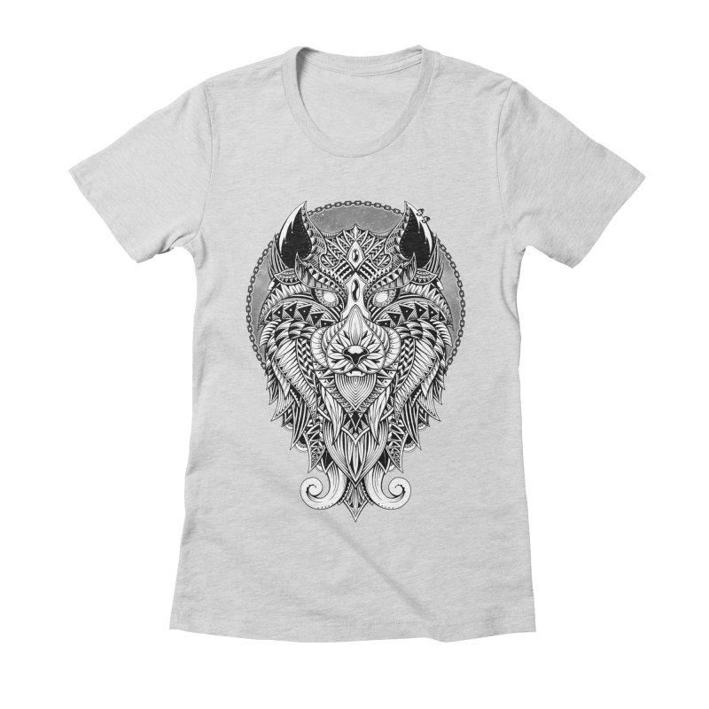 Wild Spirit Women's Fitted T-Shirt by godzillarge's Artist Shop