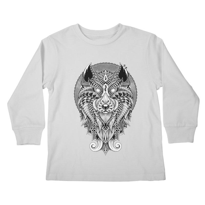 Wild Spirit Kids Longsleeve T-Shirt by godzillarge's Artist Shop