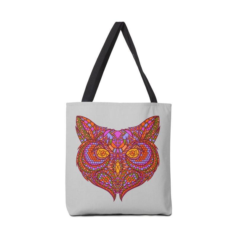 Owl Mosaic Accessories Bag by godzillarge's Artist Shop