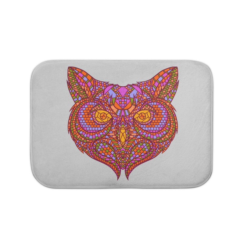 Owl Mosaic Home Bath Mat by godzillarge's Artist Shop