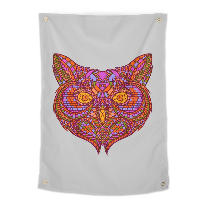 Owl Mosaic Home Tapestry by godzillarge's Artist Shop