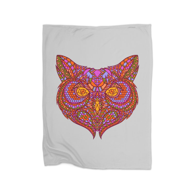 Owl Mosaic Home Blanket by godzillarge's Artist Shop