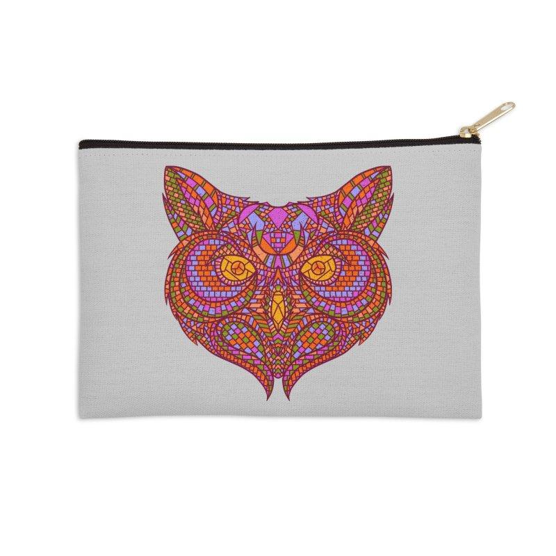 Owl Mosaic Accessories Zip Pouch by godzillarge's Artist Shop