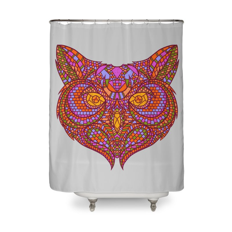 Owl Mosaic Home Shower Curtain by godzillarge's Artist Shop