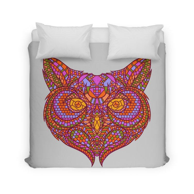 Owl Mosaic Home Duvet by godzillarge's Artist Shop