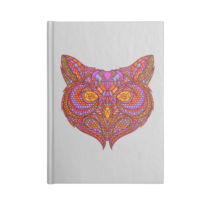 Owl Mosaic Accessories Notebook by godzillarge's Artist Shop