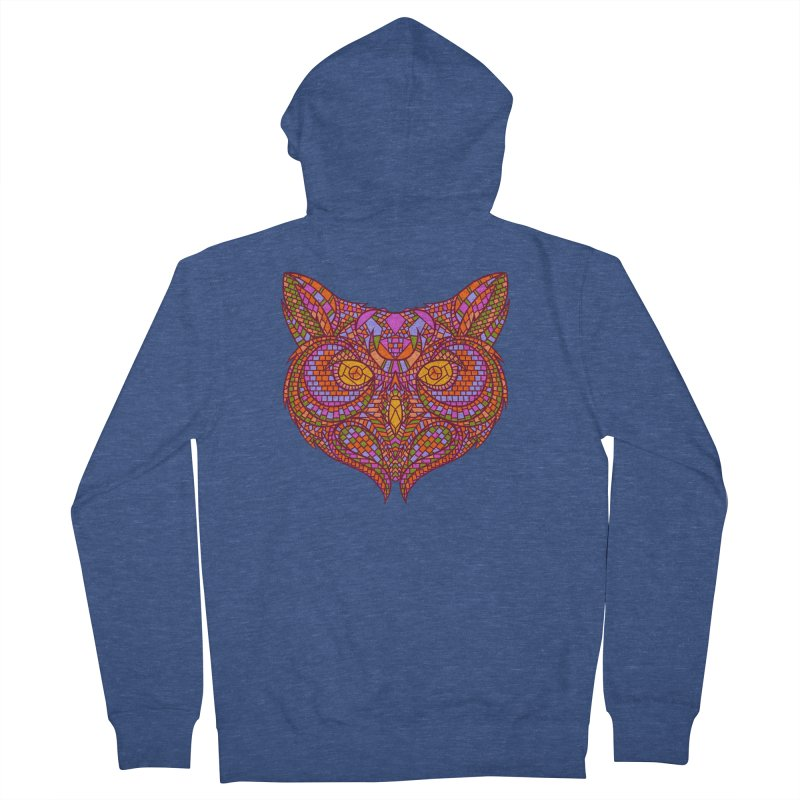 Owl Mosaic Women's Zip-Up Hoody by godzillarge's Artist Shop