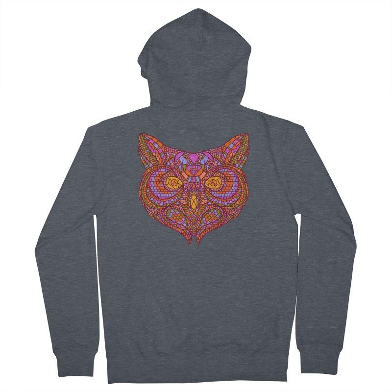 Owl Mosaic Men's Zip-Up Hoody by godzillarge's Artist Shop