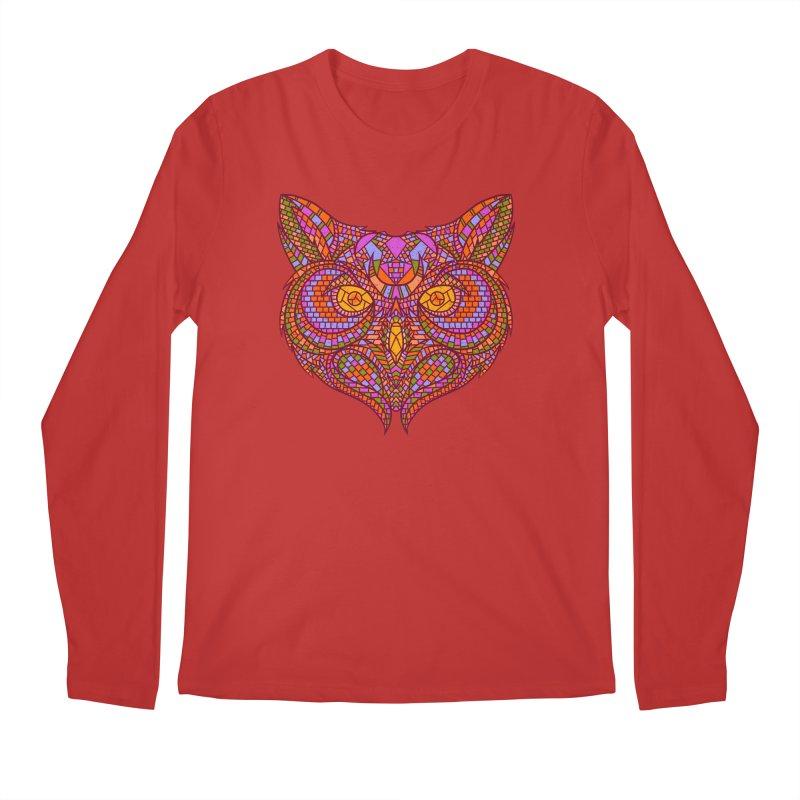 Owl Mosaic Men's Longsleeve T-Shirt by godzillarge's Artist Shop