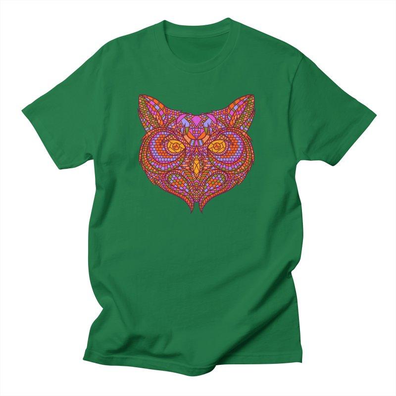 Owl Mosaic Men's T-Shirt by godzillarge's Artist Shop